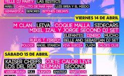 CARTEL POR DÍAS SANSAN FESTIVAL 2017